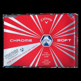 クロム ソフト ボール TRUVIS ホワイト/ブルー