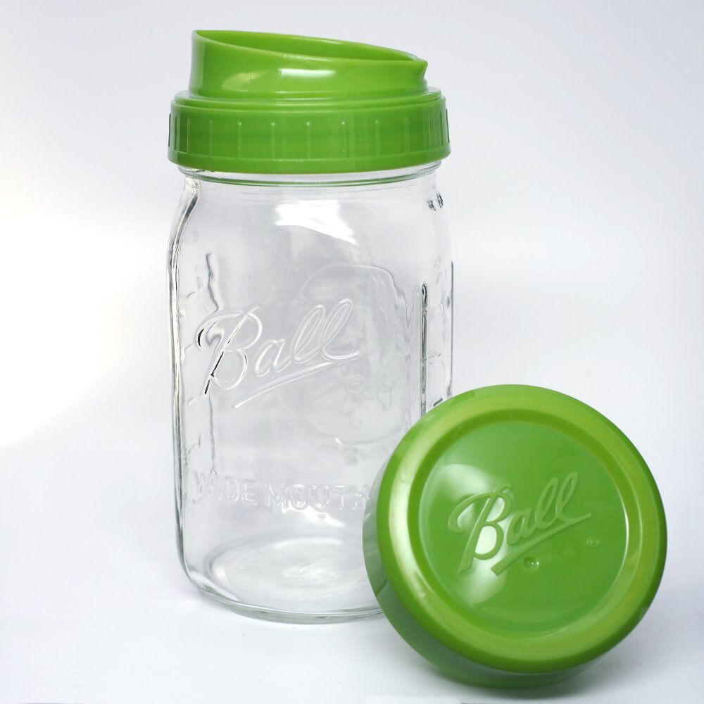 32 oz wide mouth mason jars - Ball Wide Mouth Pour Measure Cap With Wide Mouth Quart 32 Oz Glass