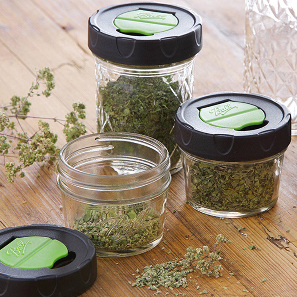 Ball 174 Regular Mouth Quarter Pint 4 Oz Dry Herb Mason Jars