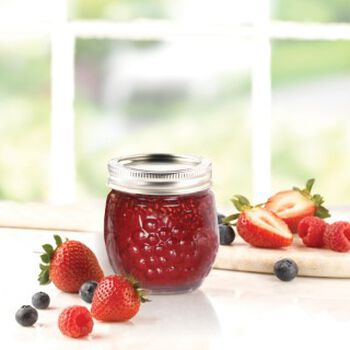 Ball® Collection Elite® Half-Pint 8 oz. Jam Jars, 4 count
