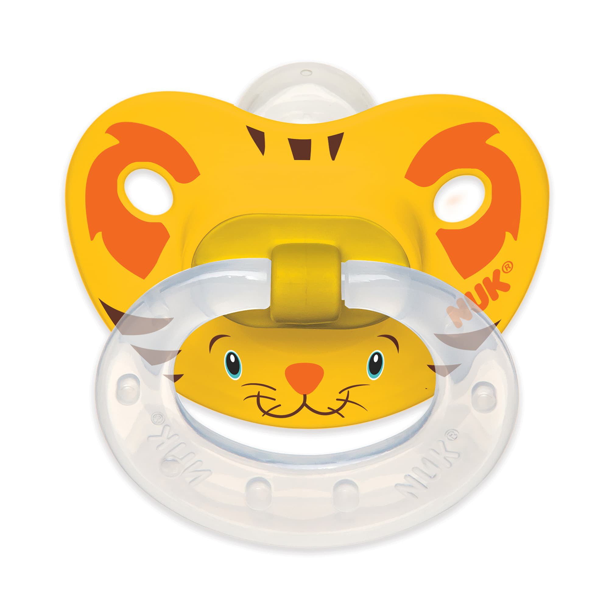 Animal Faces Orthodontic Pacifier 6-18 Months 2 Pack ...