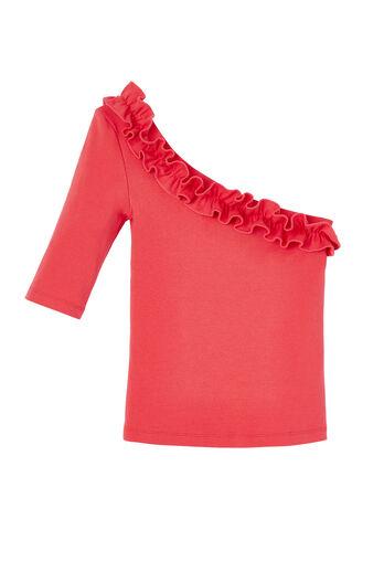 La Vie One Shoulder Ribbed Jersey Top