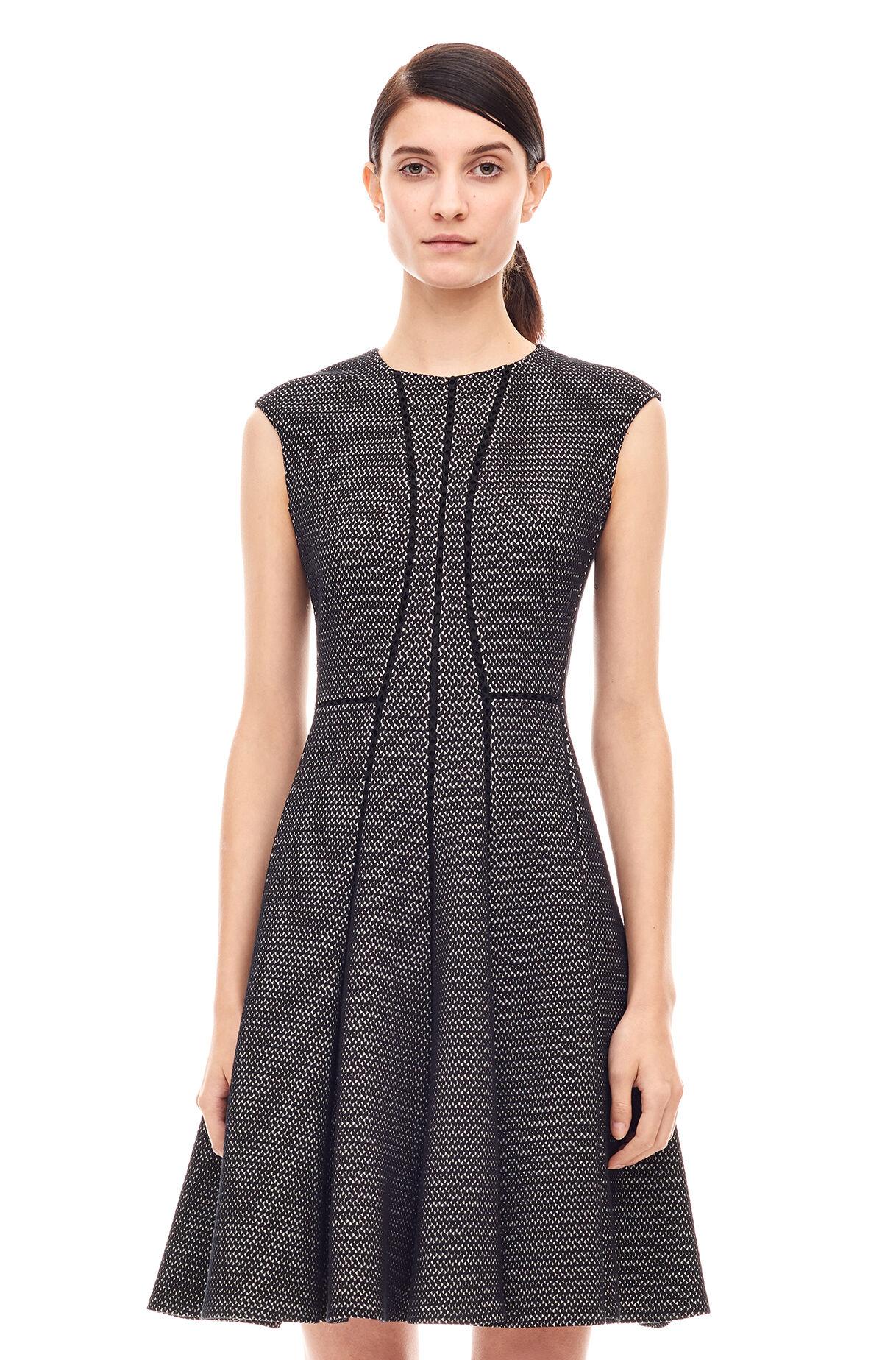 Textured Stretch Knit Dress - Rebecca Taylor