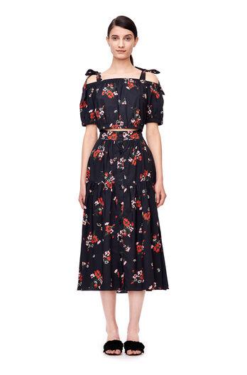 Marguerite Poplin Skirt - Black