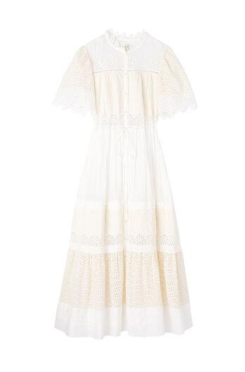La Vie Embroidered Voile Dress