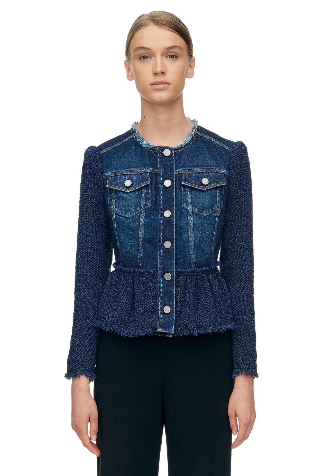 Stretch Tweed Denim Jacket | Rebecca Taylor