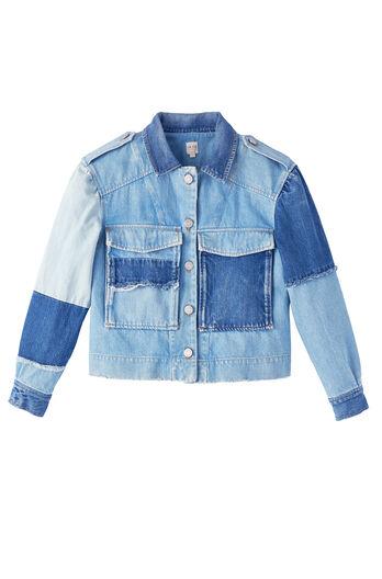 La Vie Patched Denim Jacket