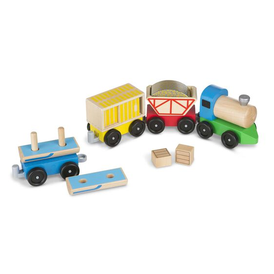 Wooden Toy Trains : Classic wooden toy cargo train