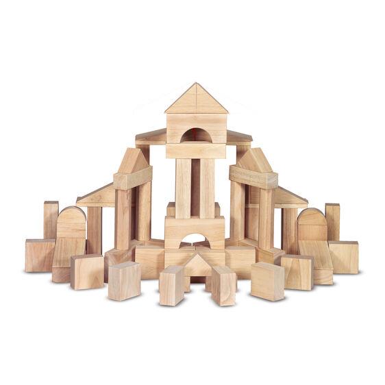 Standard unit blocks 60 piece melissa doug for Foam building blocks for houses